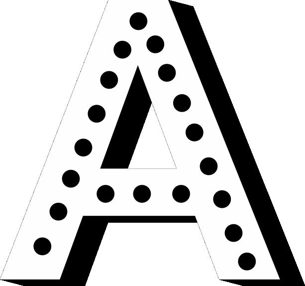 litery świetlne