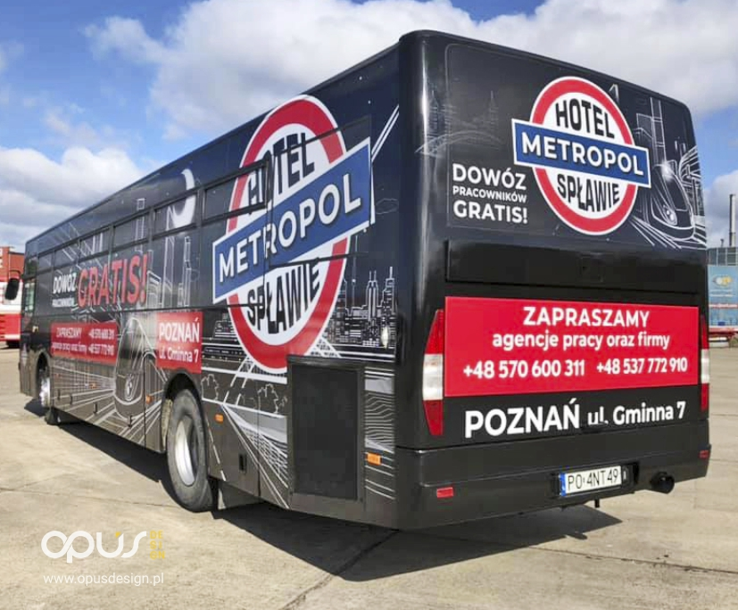 oklejanie autobusów piła