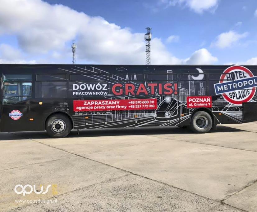 reklama na autobusie metropol poznań