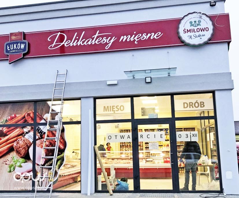 delikatesy mięsne śmiłowo reklama kaseton