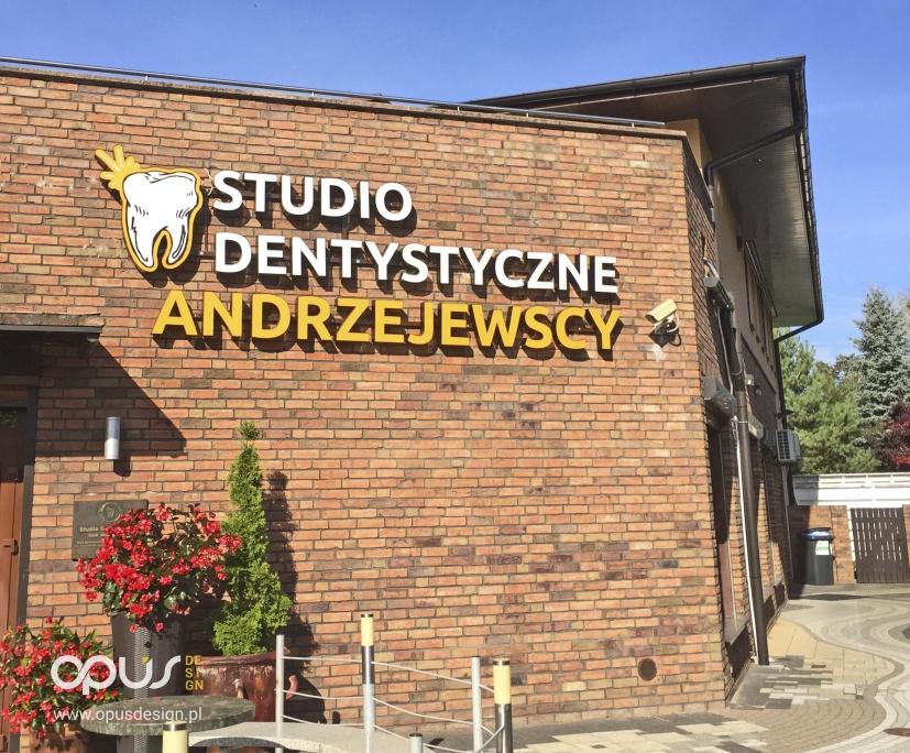 litery przestrzenne 3d studio dentystyczne andrzejewscy