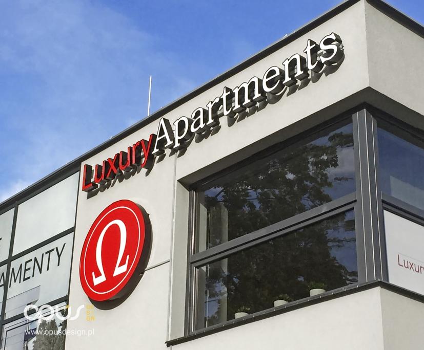 litery 3D piła apartments