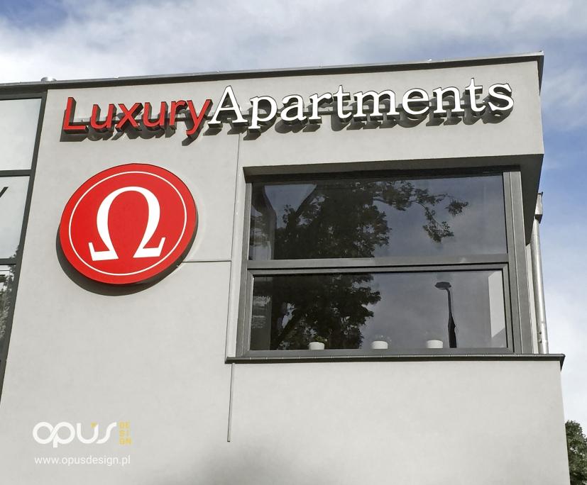 litery przestrzenne luxury apartments piła
