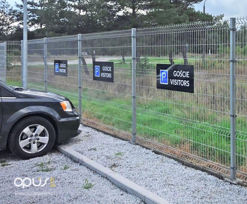 oznaczenie parking tabliczki